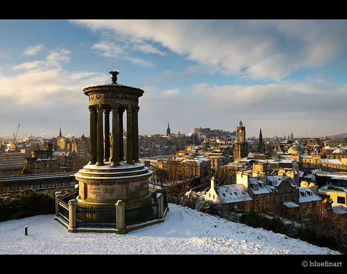 city morning winter snow classic scotland edinburgh cityscape snaw caltonhillwinter