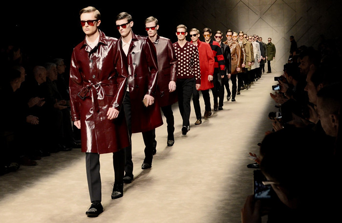 the burberry prorsum autumn-winter 2013 menswear show in milan