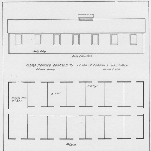 Report 1910 Dormitory Drawing