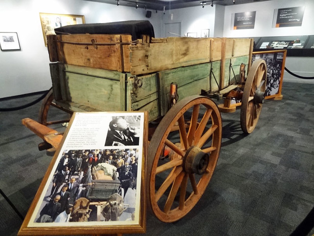 wooden-wagon-casket - martin luther king museum atlanta