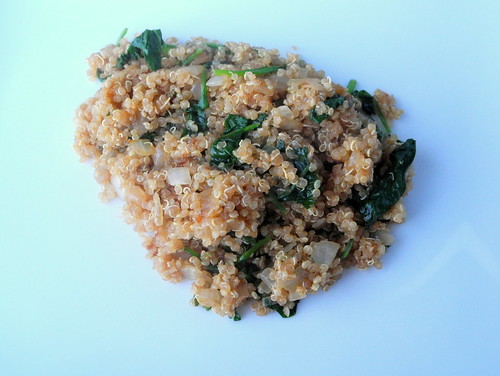 Onion and Spinach Quinoa Cooked