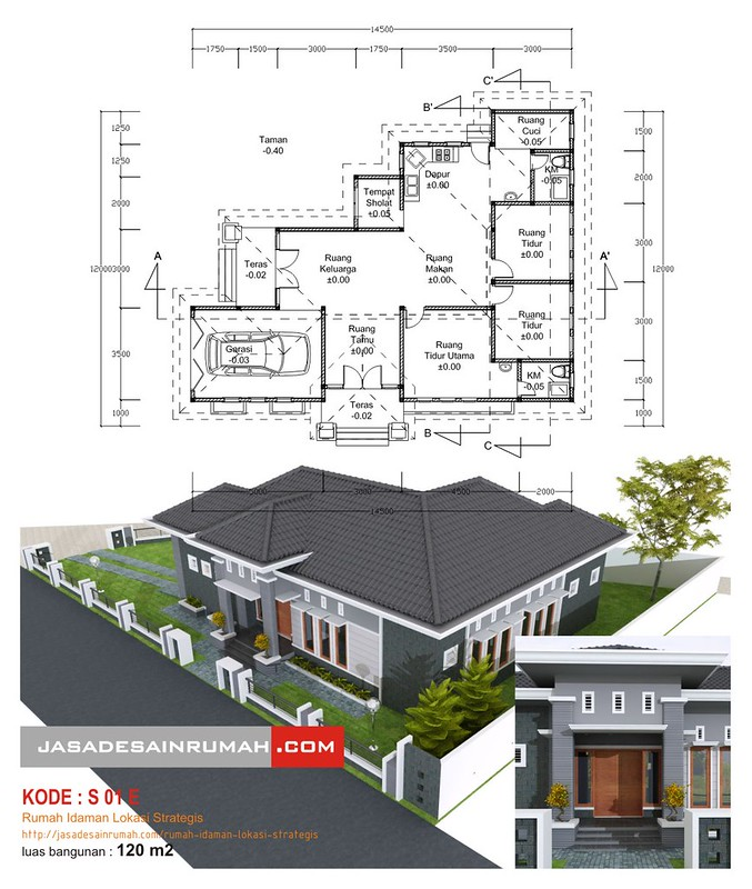 Contoh Karya Jasa Desain Rumah: Rumah Idaman Lokasi Strategis @ Jasa Desain Rumah