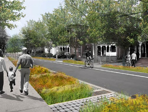 street in Frog Hollow, Hartford, re-imagined (by: Nelson Byrd Woltz for US EPA)
