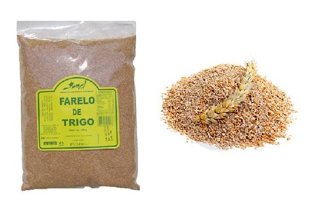 Farelo de Trigo, rico em fibras insolúveis