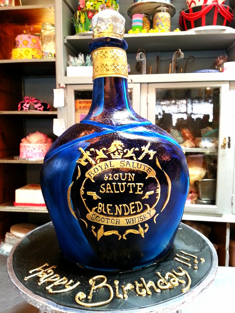 3d Chivas Regal 62 Gun Salute Whiskey Bottle Shaped Wicked Chocolate