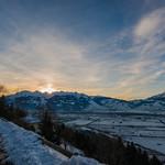 Sunset in Planken, Liechtenstein