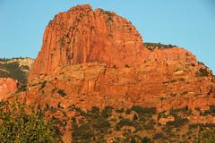 Navajo Sandstone at sunset (Lower Jurassic; northern Kolob Canyons, Zion National Park, Utah, USA) 1