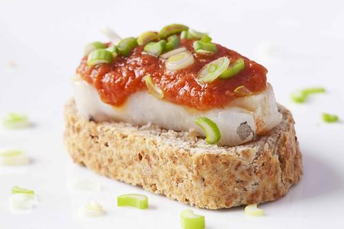 Barquetes de bacallà marinat 2