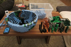 dirks LEGO globe - building up 03