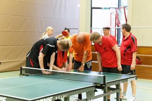 Tischtennis Freundschaftsspiele TuS Hilter - TTV Quick 20 Oldenzaal am 26.08.2016 in Hilter a.T.W.