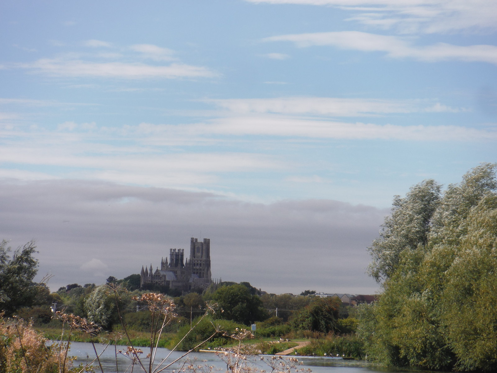Ely Cathedral from River Great Ouse, near Cuckoo Bridge SWC Walk 118 Ely Circular (off-route off the Ely Extension)