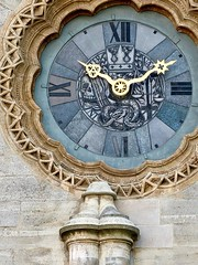 The beauty is in the detail, Clock of the St. Stephen's Cathedral in Vienna Austria