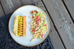Grilled Hot Dog w/ Greek Pasta Salald 07.01.16