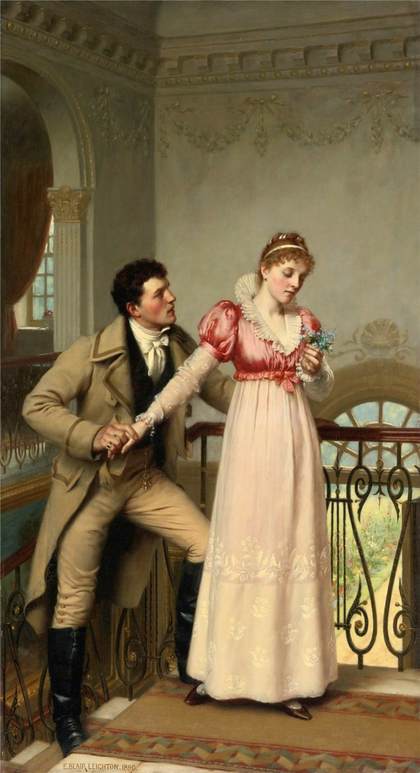 Yes or No? by Edmund Blair Leighton