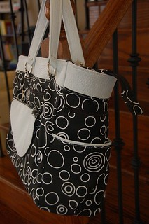 Diaper Bag with removable Clutch- side