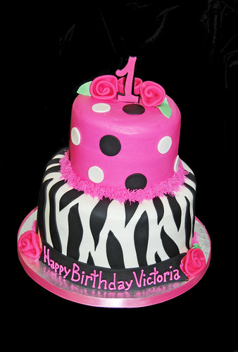 1st birthday zebra birthday cake