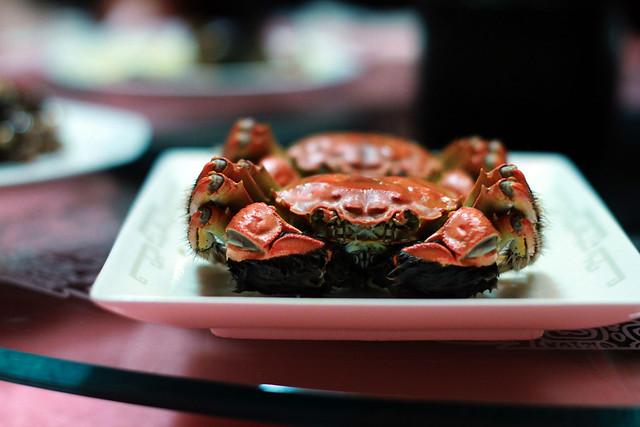 Man Wah Mandarin Oriental Hong Kong Shanghai Hairy Crab Dinner
