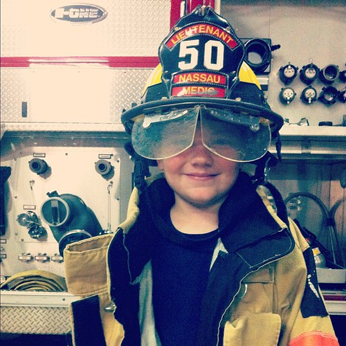 Tonight's #cubscout pack meeting was at the local fire station. So. Much. Fun. #cubscouts