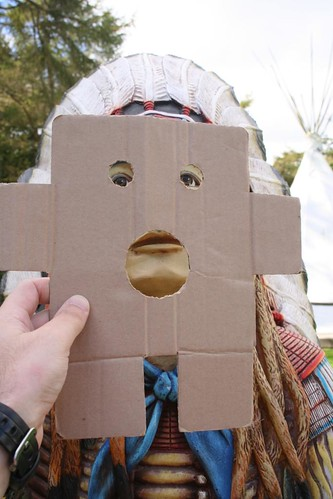 Cardboard Kid visits Scarborough and Whitby