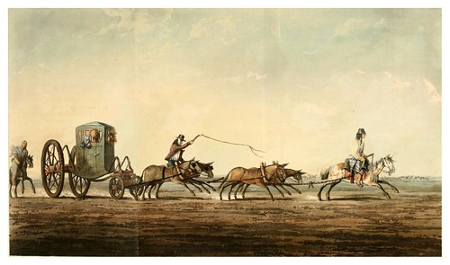 021-Viaje en coche de postas-Picturesque illustrations of Buenos Ayres and Monte Video..-1820- Emeric Essex Vidal