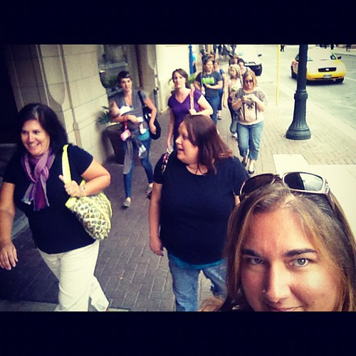 Walkin' downtown #sanantonio with these lovely ladies. #womenoffaith