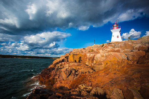 sea lighthouse green fall colors colours killarney redrocks