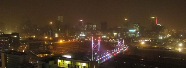 Mandela Bridge and Inner City at night 600x221