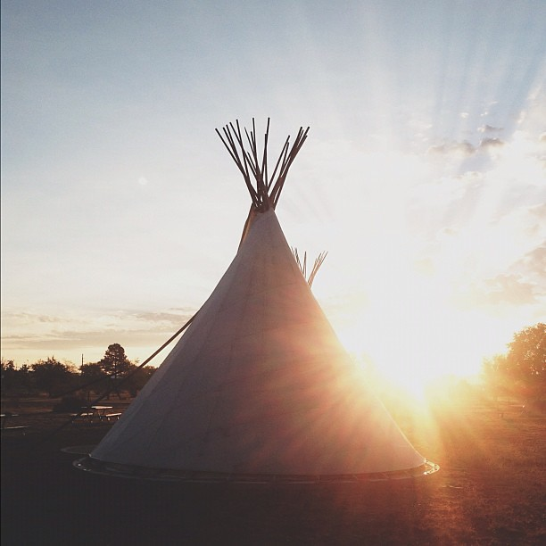 Good morning friends! Today is the day @travismccarra and @nikou22 get married! #marfaweddingfiesta #marfa #elcosmico #teepeeliving #sunrise #headedtomarfa #texas #sistersister #ssmrt