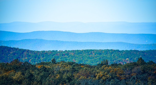 Blueridge Mountains from Shenandoah National Park Virginia - Skyline Drive in the Fall 2012