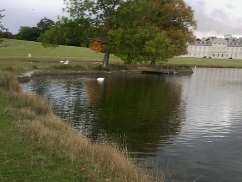 Woburn Abbey with Lake
