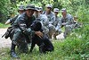 Ranger dog tracking team by Georgia National Guard