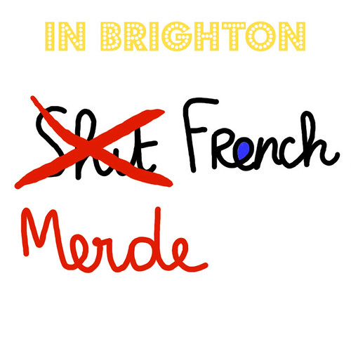 shit french