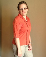 Pin-Tucked Shirt Refashion - After