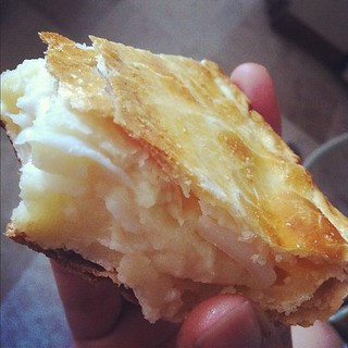 Eat Buko Pie by hand! It's yummier this way