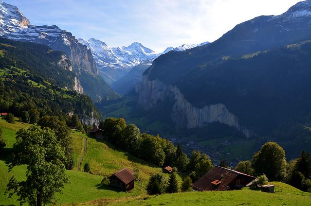 Valle de Lauterbrunnen en Suiza