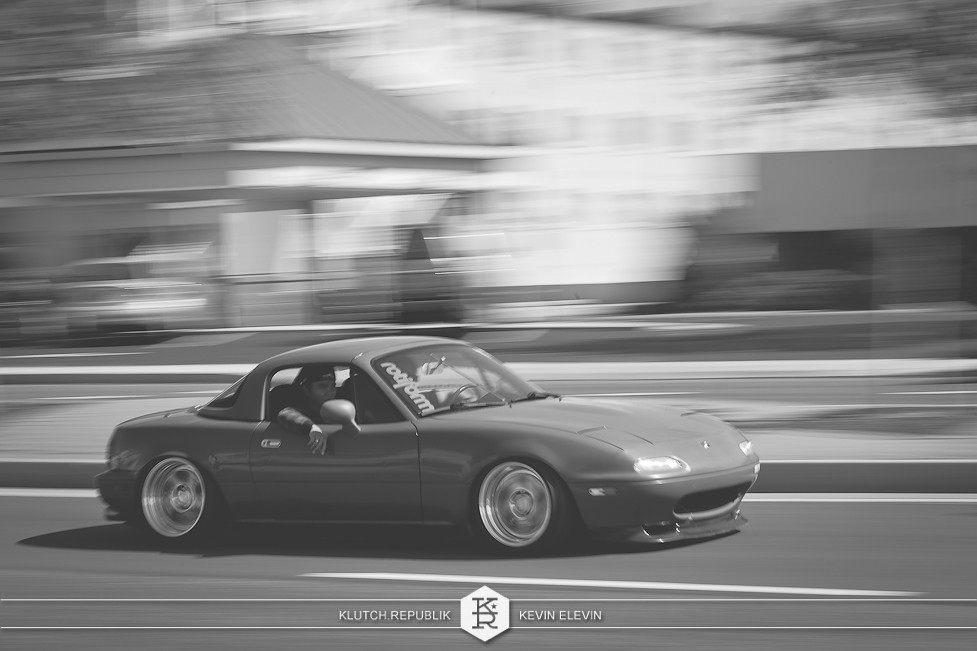 miata rotiform at h2oi 2012 3pc wheels static airride low slammed coilovers stance stanced hellaflush poke tuck negative postive camber fitment fitted tire stretch laid out hard parked seen on klutch republik