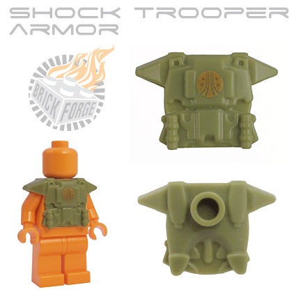 Shock Trooper Armor - Olive Green (gold CMC emblem)