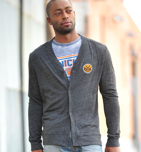 NY KNICKS CARDIGAN BY SPORTIQE APPAREL