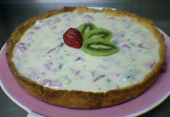 Torta de Morango e kiwi - Foto de Livia Rodrigues