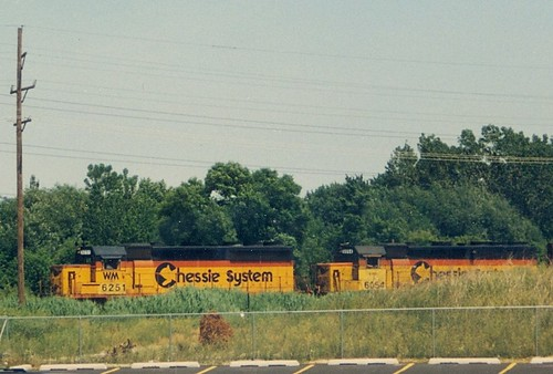 Early CSX train with former Chessie System locomotives.  Alsip Illinois.  May 1988. by Eddie from Chicago