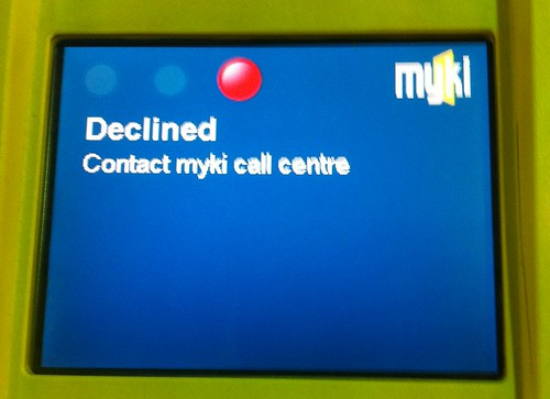 The error you get at a Myki gate at the end of your trip if you didn't touch-on at the start