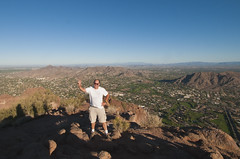 At the summit on Camelback Mountain