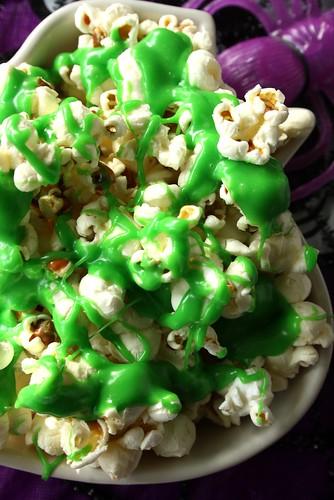 Halloween Ectoplasm Splashed Popcorn