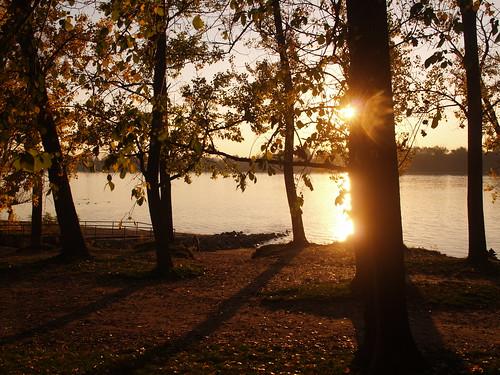 sunset riverside watermark dunakeszi