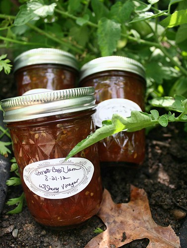 Tomato-Basil Jam with Sherry Vinegar