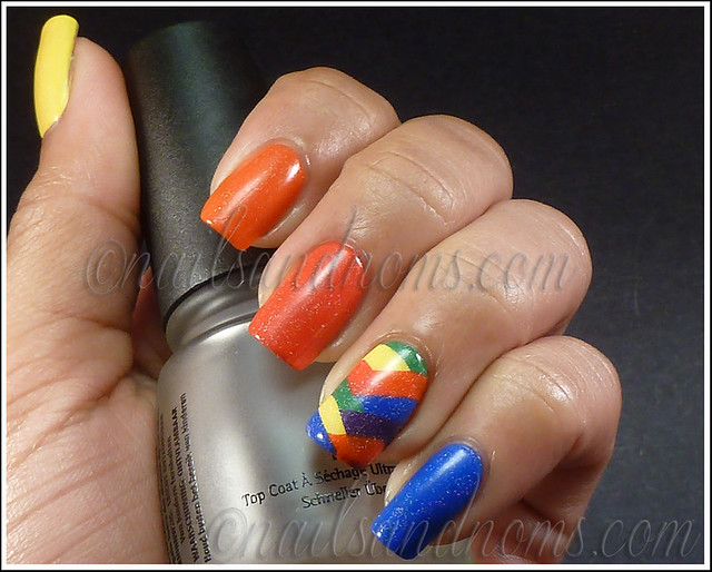 31DC2012 Day 9 - Rainbow Nails 8