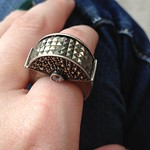 deco marcasite ring from tag sale in Long Beach
