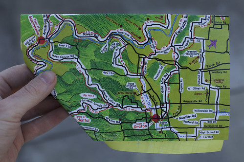 Comic Sans Bike Map