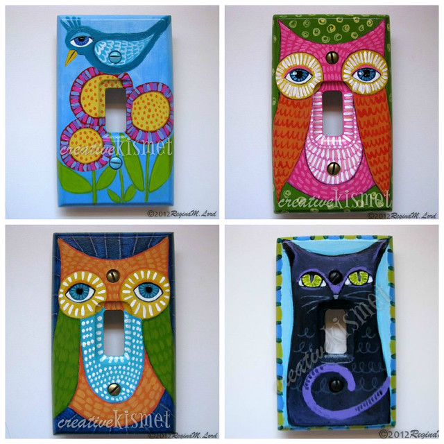 Hand Painted Light Switch Plates Flickr Photo Sharing
