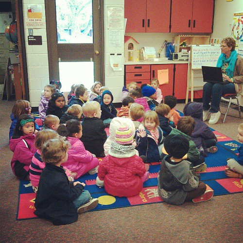 Two ECE classes getting ready for their field trip!